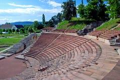 Anfiteatro del teatro romano de Raurica del iAugusta Foto de archivo libre de regalías