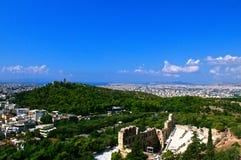 Anfiteatro dell'acropoli Fotografie Stock