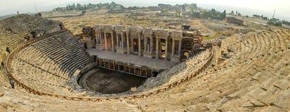 Anfiteatro di Hierapolis Roman Antique Theater, Pamukkale, Turchia immagine stock