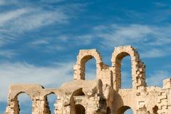 Anfiteatro do EL Djem (9) imagens de stock royalty free