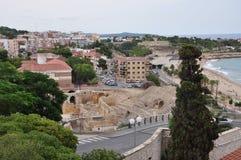 anfiteatro e cidade Imagens de Stock