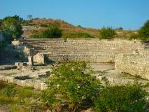 Anfiteatro em Tauric Chersonese, Sevastopol, Crimeia fotos de stock royalty free