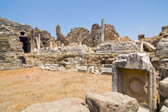 Anfiteatro en el lado, Turquía Imagen de archivo