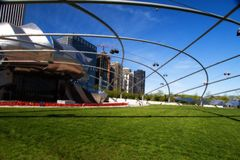 Anfiteatro en el parque de Millineum en Chicago. Imágenes de archivo libres de regalías