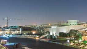 Anfiteatro en el pueblo cultural de Katara después del timelapse de la puesta del sol, Doha Qatar almacen de metraje de vídeo