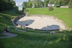Anfiteatro en el Trier, Alemania Foto de archivo libre de regalías