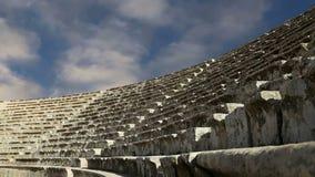 Anfiteatro en Jerash Gerasa de la ciudad de la antigüedad, capital y más grande del Governorate de Jerash, Jordania almacen de video