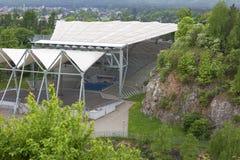 Anfiteatro en la reserva de naturaleza Kadzielnia, Kielce, Polonia Fotos de archivo libres de regalías