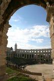 Anfiteatro en las pulas (croatia) Foto de archivo