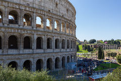 Anfiteatro Flavio Rome Arkivfoton