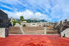 Anfiteatro in fortezza Kanli Kula, Castelnuovo, Montenegro Fotografia Stock Libera da Diritti
