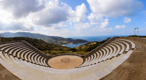 Anfiteatro greco Immagini Stock Libere da Diritti