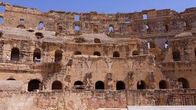 Anfiteatro inacabado antigo Gordian na cidade do EL Jem, opinião de Tunísia para dentro video estoque