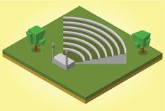 Anfiteatro isométrico Imagen de archivo libre de regalías
