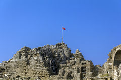 Anfiteatro, lato, Turchia immagini stock libere da diritti