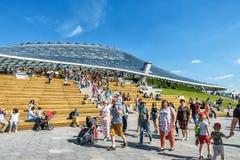 Anfiteatro moderno con un tejado de cristal en Moscú Foto de archivo