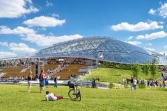 Anfiteatro moderno en el parque de Zaryadye en Moscú Fotografía de archivo libre de regalías