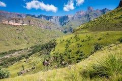 Anfiteatro, montañas septentrionales de Drakensberg en Natal National Park real fotos de archivo libres de regalías
