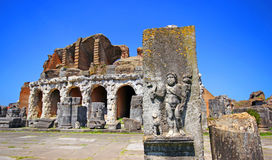 Anfiteatro nella città di Capua, Italia immagini stock libere da diritti