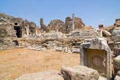 Anfiteatro no lado, Turquia Imagem de Stock