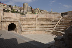 Anfiteatro pequeno, Amman Fotografia de Stock