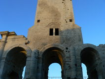 Anfiteatro romain, Arles (Francia) Fotografia Stock Libera da Diritti
