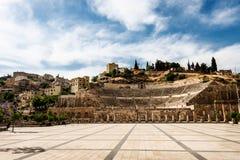 Anfiteatro romano a Amman, Giordania Fotografia Stock Libera da Diritti