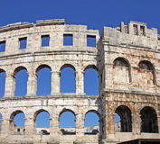 Anfiteatro romano Fotos de archivo libres de regalías