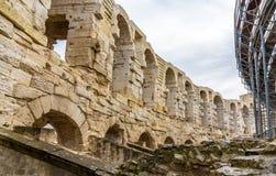 Anfiteatro romano em Arles - herança do UNESCO em França Fotos de Stock Royalty Free