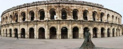 Anfiteatro romano en Nimes, Provence imagen de archivo