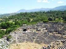 Anfiteatro romano en Tlos Turquía Imagenes de archivo