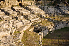 Anfiteatro romano, Siracusa, Italia Fotografia Stock