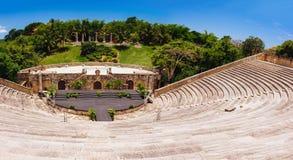 Anfiteatro in villaggio antico Altos de Chavon - Fotografie Stock Libere da Diritti