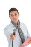 Anfitrião da mostra de bate-papo que espera uma resposta fotos de stock royalty free