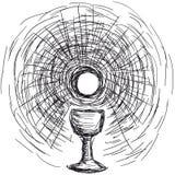 Anfitrião e chalice ilustração stock