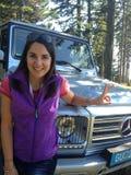 Anfitrión alemán Moderatorin Julia Bauer de la TV Imagen de archivo libre de regalías