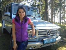 Anfitrión alemán Moderatorin Julia Bauer de la TV Foto de archivo