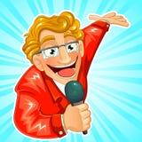 Anfitrión de la TV stock de ilustración