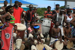 Anfitriões africanos Fotografia de Stock Royalty Free
