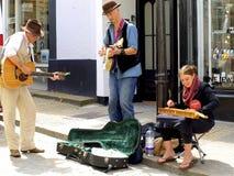 Anfitriões da rua, St Ives, Cornualha Fotos de Stock