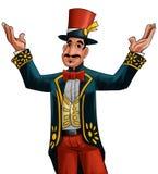 Anfitrião do circo Fotografia de Stock