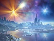 Anflug an das Eis-Königreich stock abbildung