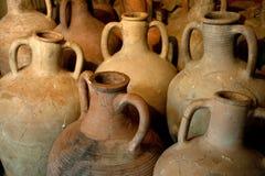 Anfora dell'argilla del greco antico Fotografie Stock Libere da Diritti