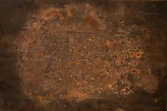 anfrätt grungy textur för metallplatta Arkivbild