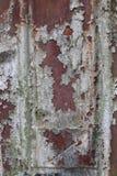 Anfrätt och skamfilad metallisk yttersidabakgrund Royaltyfri Bild
