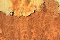 Anfrätt rosttexturbakgrund Arkivfoton
