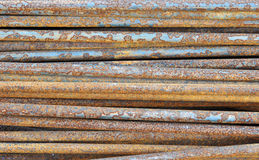 anfrätta metallrør Royaltyfri Foto