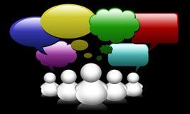 anförande för samkväm för folk för nätverk för bubblagruppmedel Arkivfoton