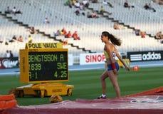 Angélica Bengtsson - ganador del salto con pértiga Fotos de archivo libres de regalías