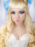 Angélico - anjo 'sexy' bonito Imagens de Stock Royalty Free